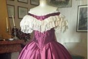 VESTITO STORICO FEMMINILE 1850-60