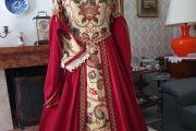 Abito Costume Storico Rinascimentale Femminile 1500 Art CF 002
