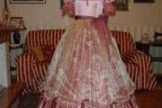 VESTITO STORICO FEMMINILE 1800  art OF 003
